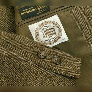 Vtg J. Press Tweed Herringbone Blazer Wool Jacket